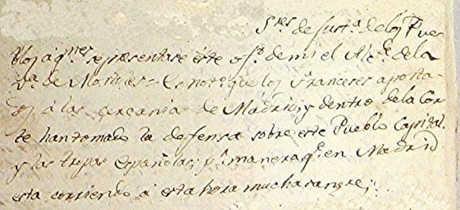 3 Un fragmento del único original conservado del Bando de los Alcaldes de Móstoles. Ayuntamiento de Cumbres de San Bartolomé.